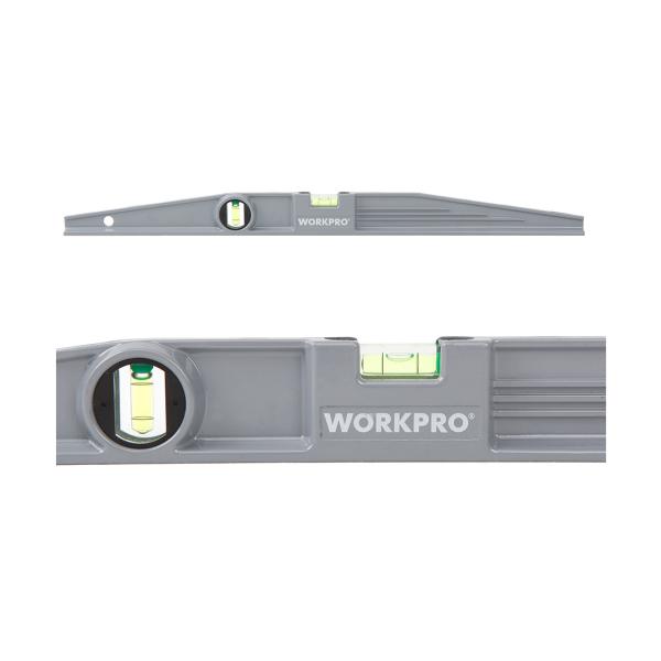 Nivela din aluminiu Workpro HGSW062005, 600 mm, 2 bule casaidea.ro