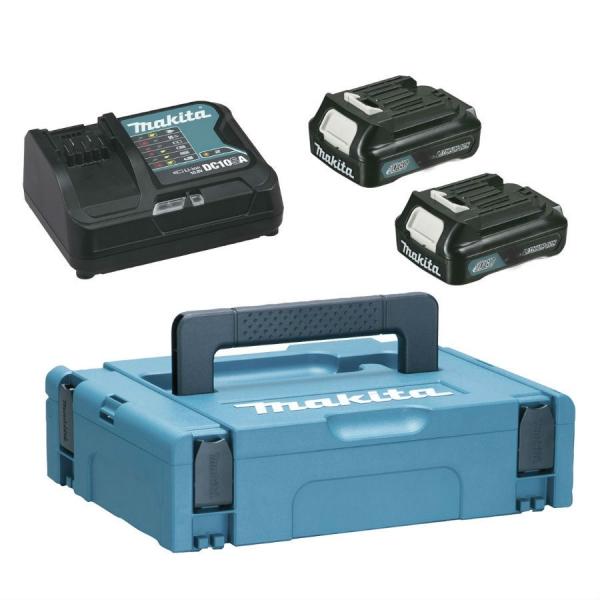Pachet incarcator + doi acumulatori Power Source Kit Makpac1 + BL1015 x2 + DC10SA Makita 197653-5, 10.8 V poza casaidea 2021