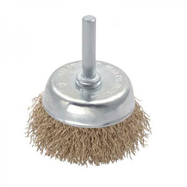 Perie de sarma tip cupa cu tija Troy T27702-65, 65 mm 0
