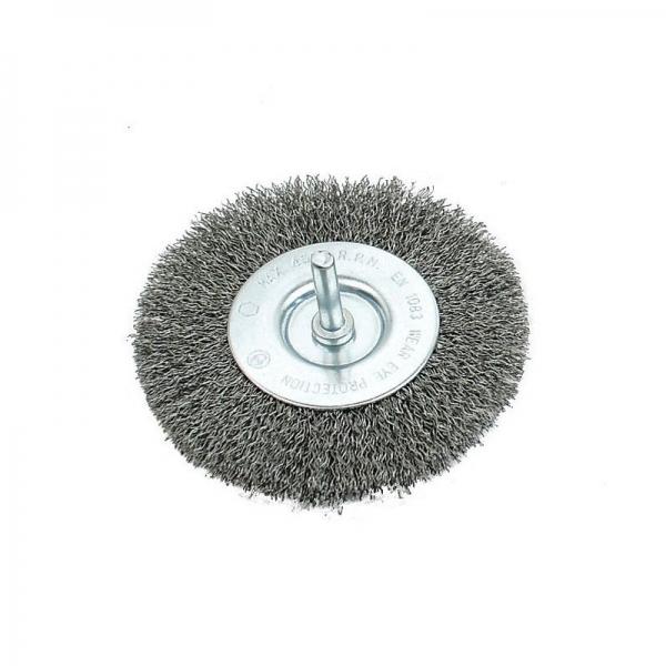 Perie de sarma circulara cu tija Mannesmann M439-G-100, 100 mm casaidea.ro