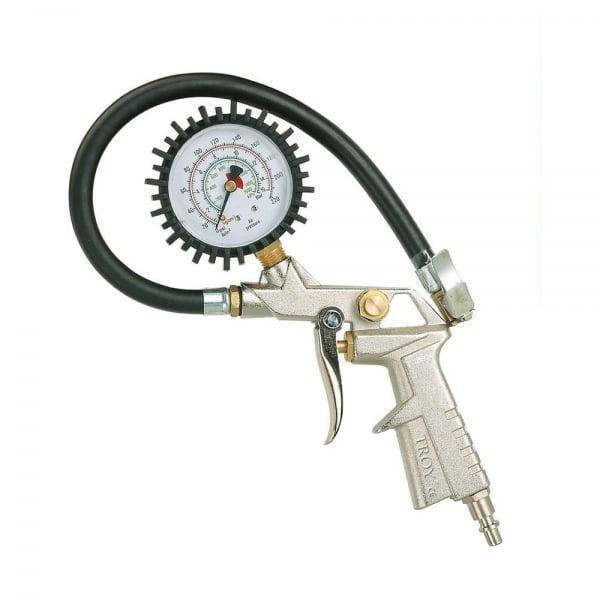 Pistol pentru umflarea anvelopelor cu manometru Troy T18604 10 bari( 467074)