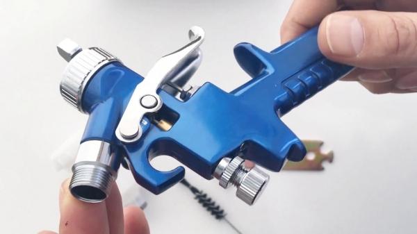 Pistol de vopsit cu aer comprimat Troy T18620, 125 ml, Ø1.0 mm [2]