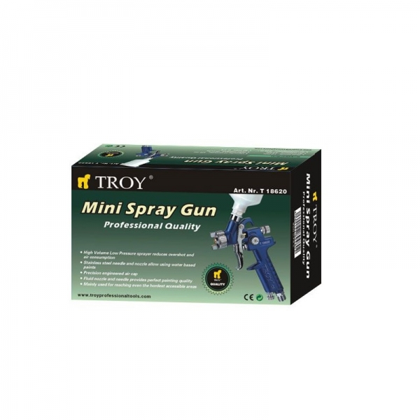 Pistol de vopsit cu aer comprimat Troy T18620, 125 ml, Ø1.0 mm [1]