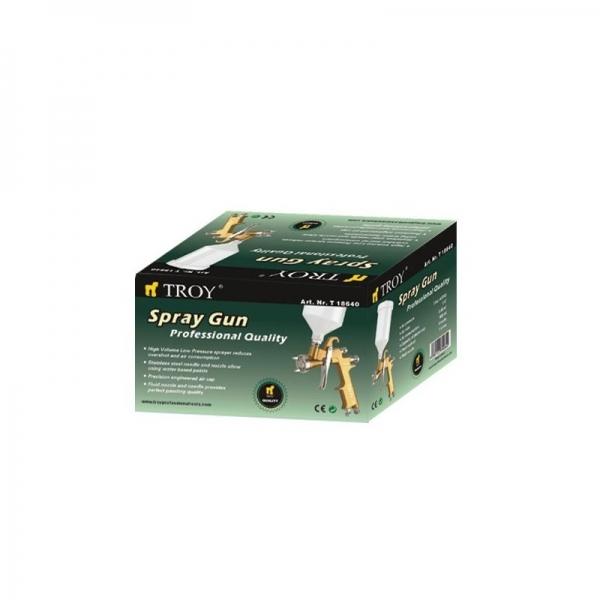 Pistol de vopsit cu aer comprimat profesional Troy T18640, 600 ml, Ø1.4 mm [1]