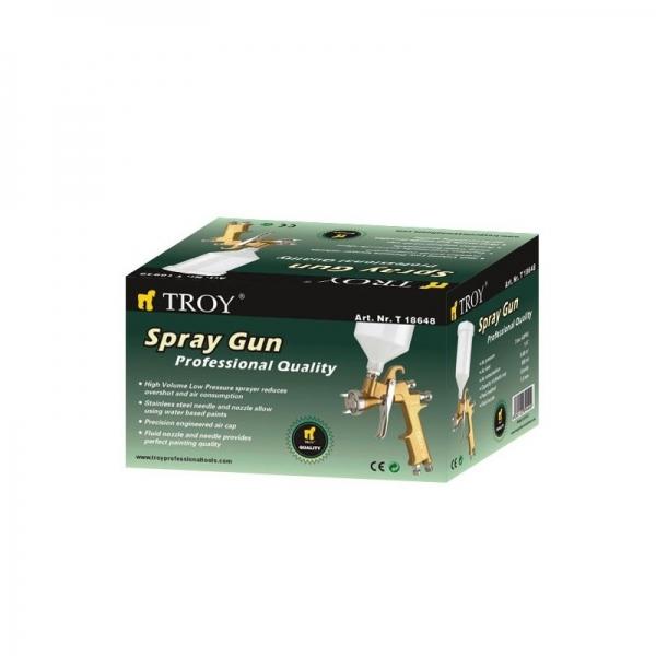 Pistol de vopsit cu aer comprimat profesional Troy T18648, 600 ml, Ø1.8 mm 1