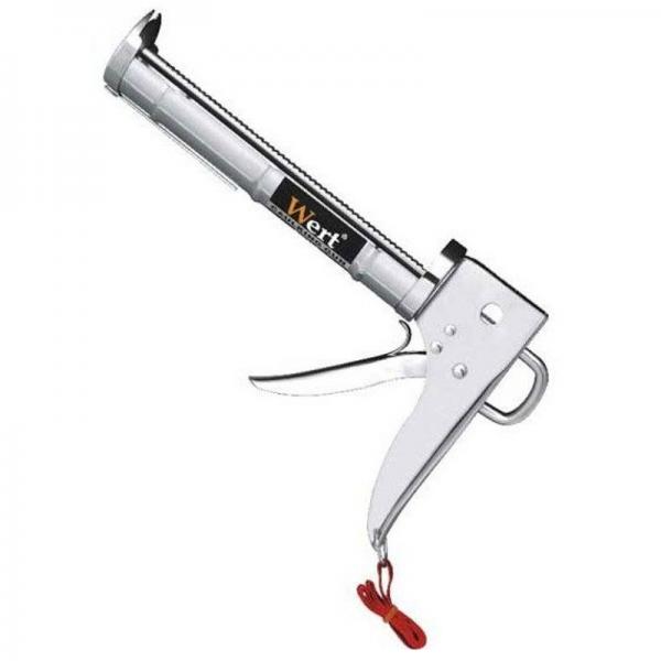 Pistol pentru silicon, zincat cu teava danturata Wert W2700-A casaidea.ro