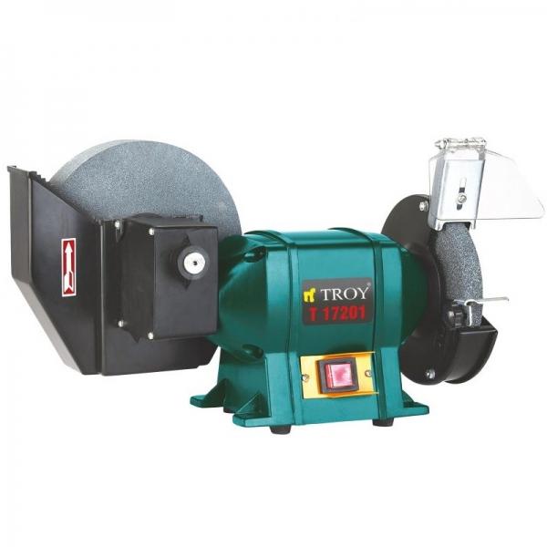 Polizor de banc combinat umed si uscat Troy T17201, 400 W, Ø150-Ø200 mm 0