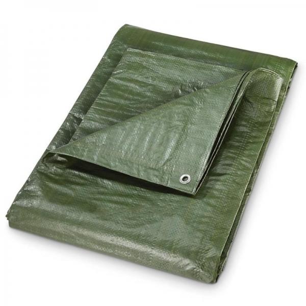 Prelata impermeabila din polietilena laminata Dema DEMA24703, verde, 3 x 6 m casaidea.ro