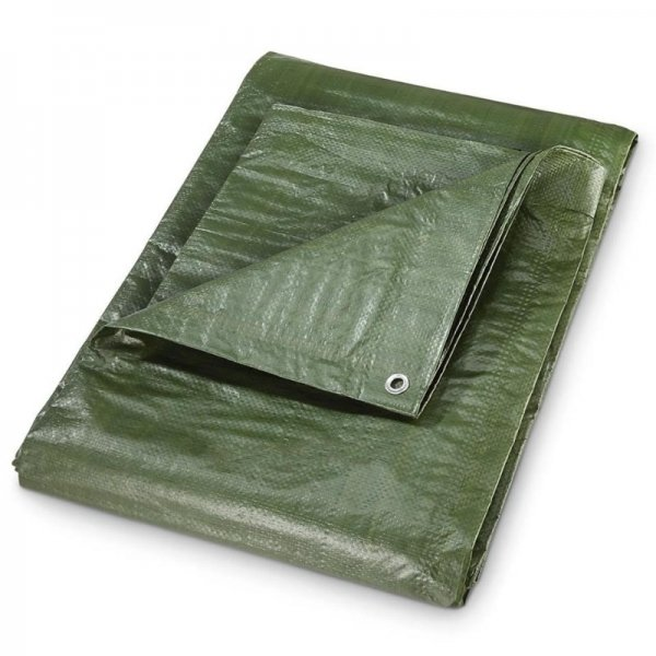 Prelata impermeabila din polietilena laminata Dema DEMA24707, verde, 5 x 8 m casaidea.ro