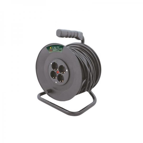 Prelungitor electric pe tambur Troy T24050, 50 m casaidea.ro