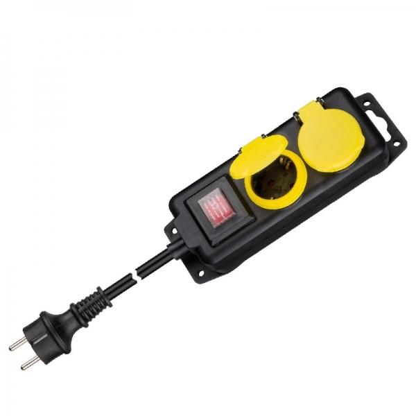 Prelungitor pentru exterior cu comutator Filmer FLMR20838, 1.4 m casaidea.ro