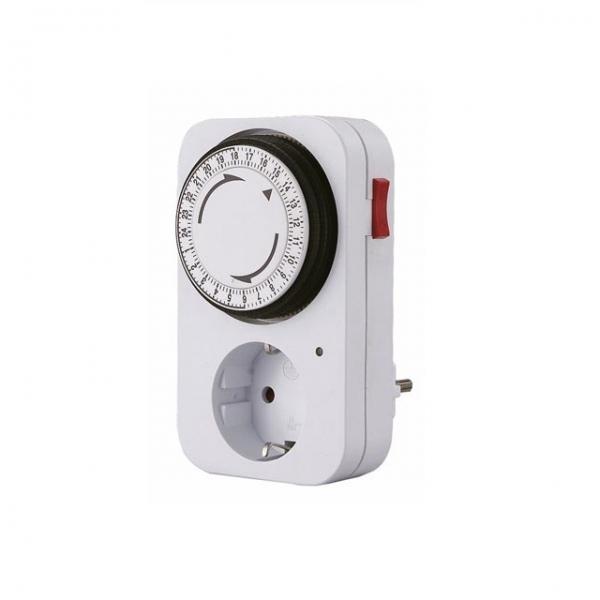 Adaptor priza programabila mecanic 24 ore Perel PRLE305D3-G, 3680 W, 16 A casaidea.ro
