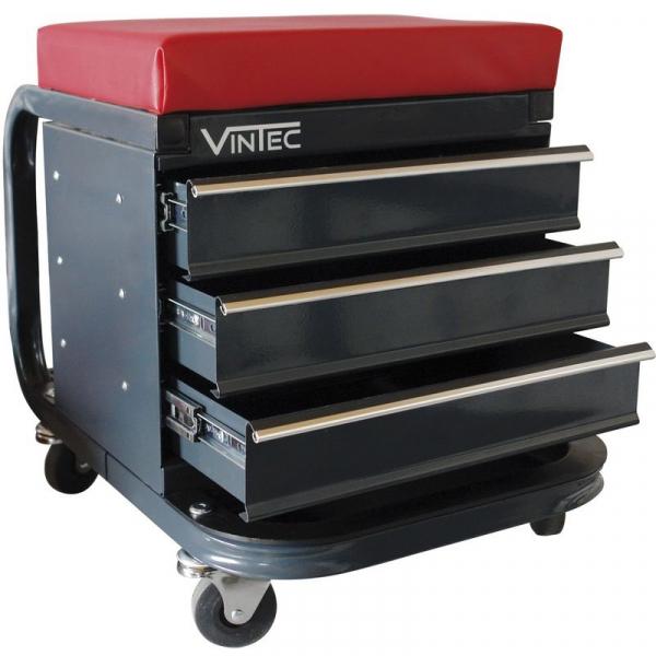 Scaun mobil cu compartiment pentru scule Vintec VNTC73589, 3 sertare VINTEC