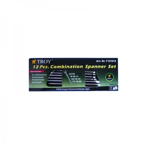Set chei combinate Troy T21512, Ø6-22 mm, 12 piese 2