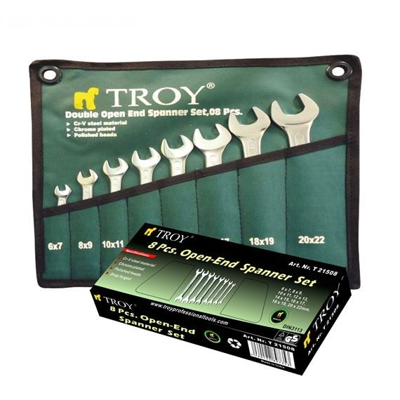 Set chei fixe Troy T21508, Ø6-22 mm, 8 piese 1