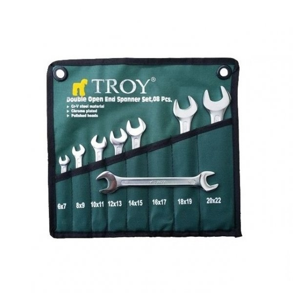Set chei fixe Troy T21508, Ø6-22 mm, 8 piese 0