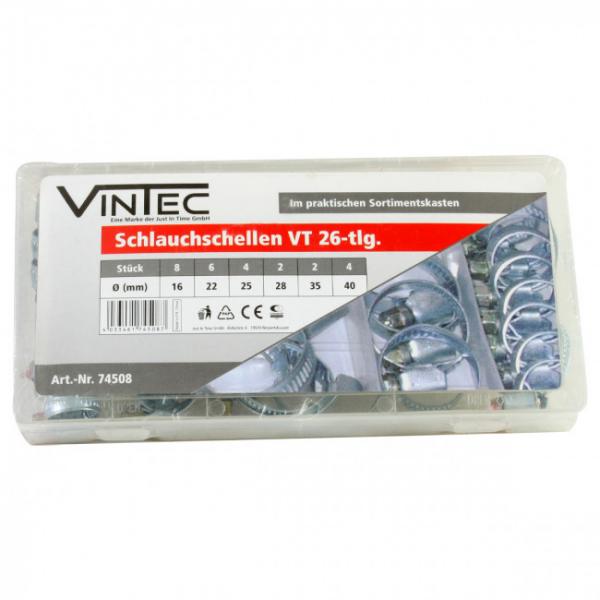 Set coliere metalice Vintec VNTC74508, O16-40 mm, 26 piese VINTEC