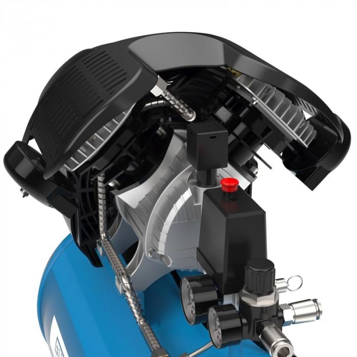 Set compresor cu doi cilindri 405/10/50 Guede GUDE71177, 2200 W, 50 l, 10 bari, 15 piese [5]