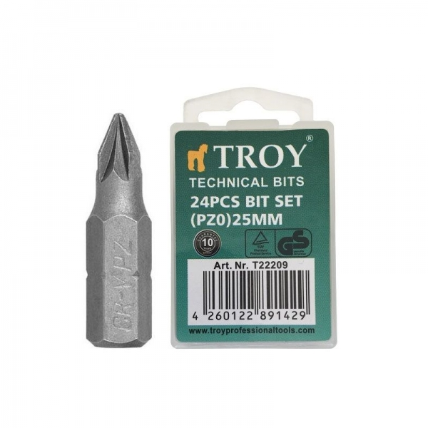 Set de biti Troy T22209, PZ0, 25 mm, 24 bucati 0