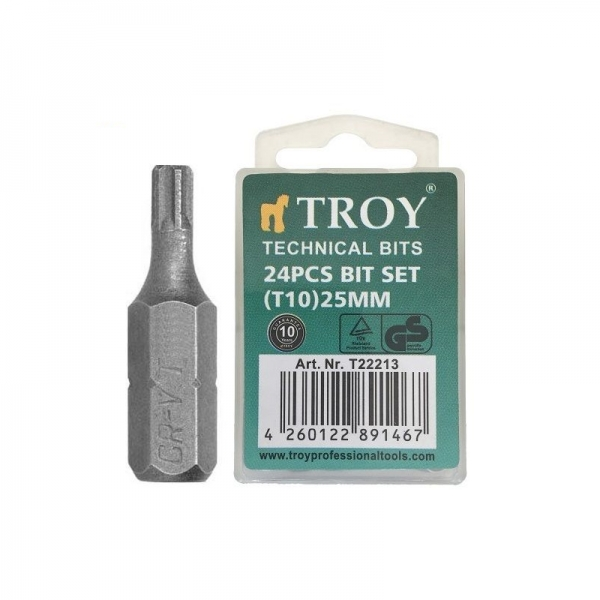 Set de biti Troy T22213, T10, 25 mm, 24 bucati 0