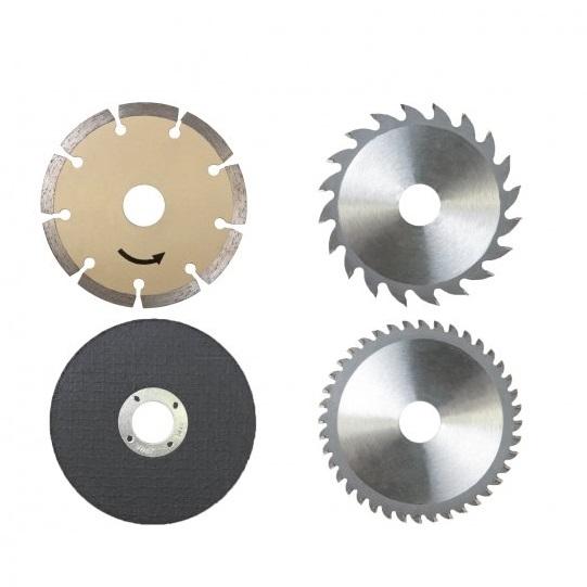 Set discuri pentru fierastrau circular PL305 Scheppach SCH3901804716, O115x22.2 mm, 4 piese casaidea.ro