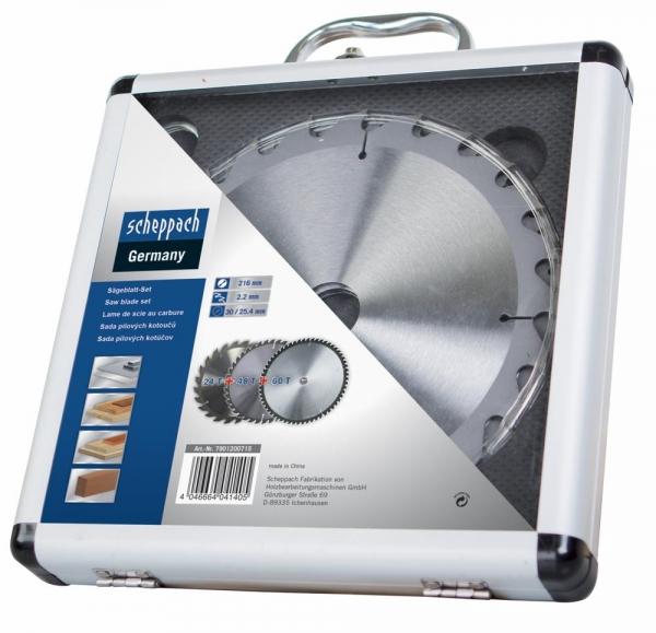 Set discuri pentru fierastrau circular, taiere tip TCT Scheppach SCH7901200715, O210x30 mm, 3 piese casaidea.ro