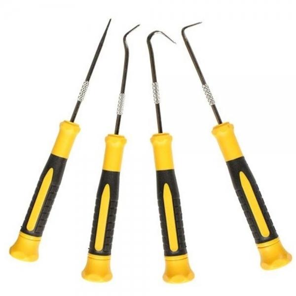 Set instrumente cu varf ascutit si carlige Wert W2690, 170 mm, 4 piese 0
