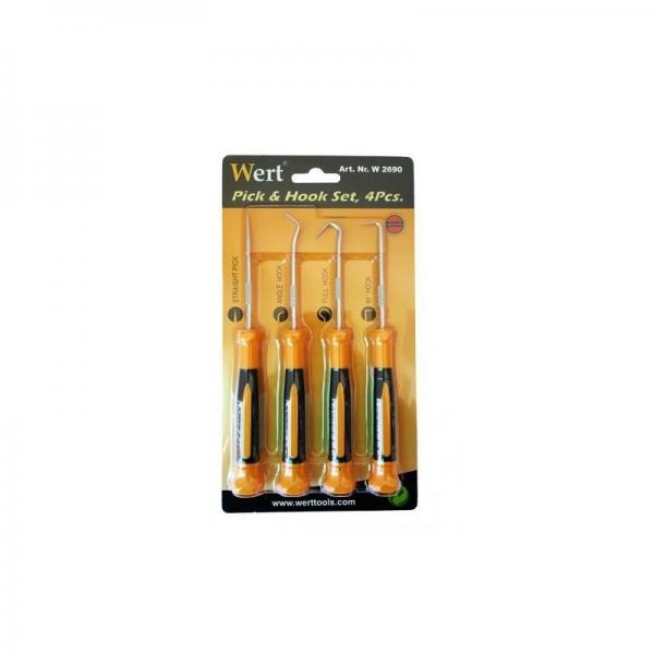 Set instrumente cu varf ascutit si carlige Wert W2690, 170 mm, 4 piese 2