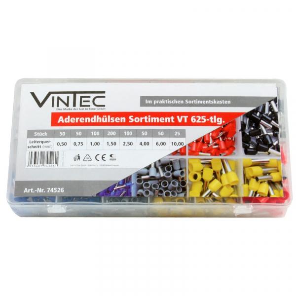 Set papuci cabluri Vintec VNTC74526, 625 piese VINTEC