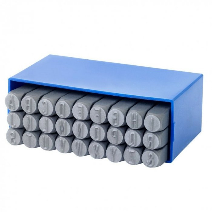 Set poansoane de marcat litere Gravurem Grvrm01103000, 3 mm, 27 piese [0]