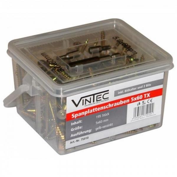 Set suruburi Vintec VNTC75010, O5x60 mm, 195 piese VINTEC