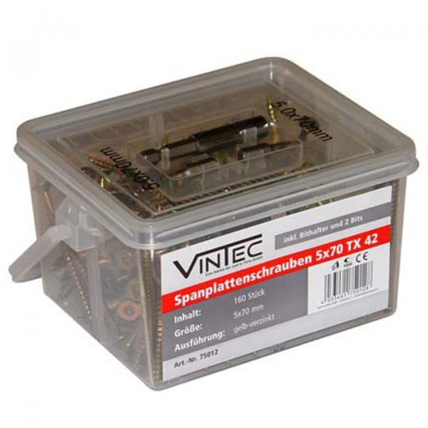 Set suruburi Vintec VNTC75012, O5x70 mm, 160 piese VINTEC