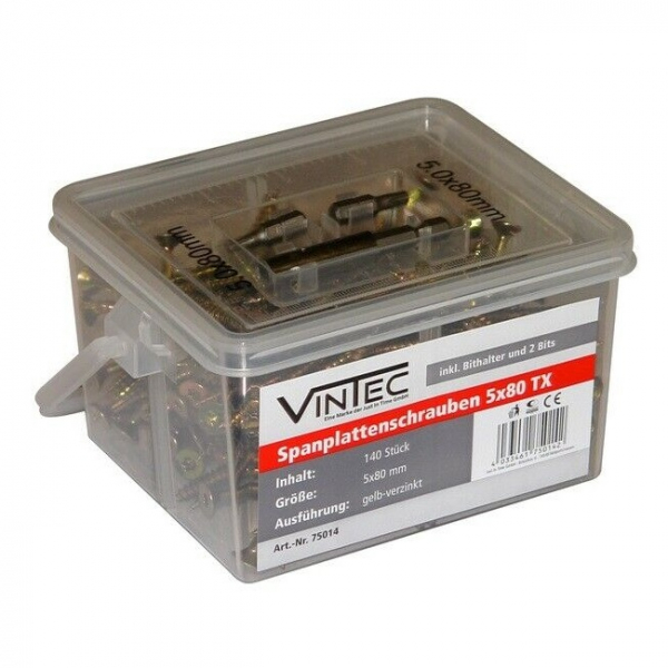 Set suruburi Vintec VNTC75014, O5x80 mm, 140 piese VINTEC