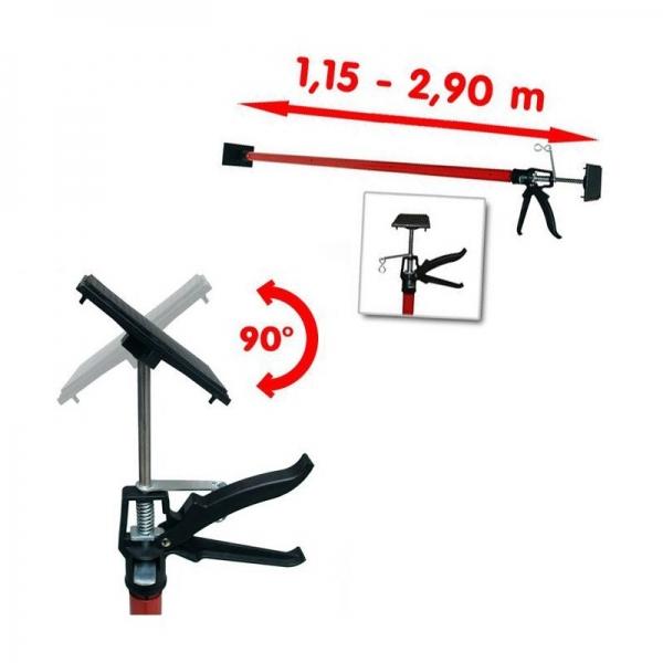 Suport telescopic pentru panouri rigips si lemn Vintec VNTC73583, 115-290 cm 1