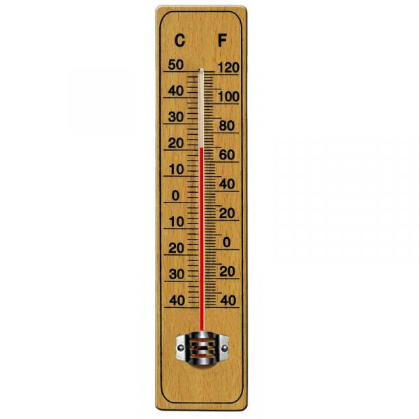 Termometru din lemn pentru interior exterior -40 C + 50 C AI&E