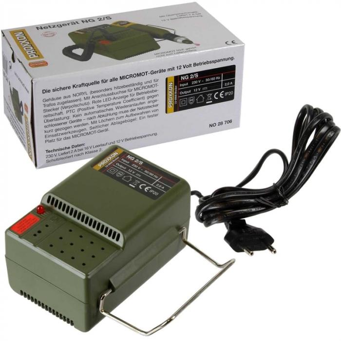 Transformator MICROMOT NG 2/S Proxxon PRXN28706, 12 V, 2 A 10