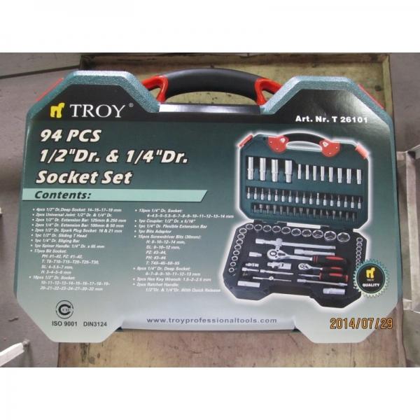 Trusa chei tubulare si biti Troy T26101, 94 piese 8