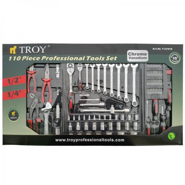 Trusa de scule Troy T21910, 110 piese, 10 ani garantie 5