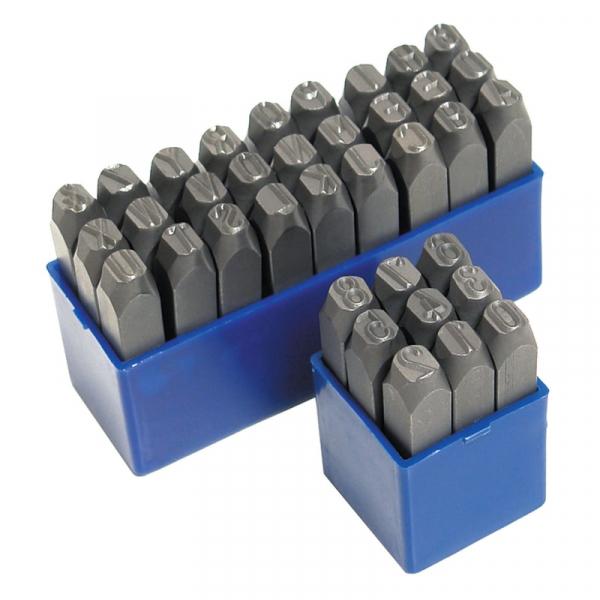Trusa de poansoane cu litere si cifre Dema DEMA18501, 10 mm, 36 piese casaidea.ro