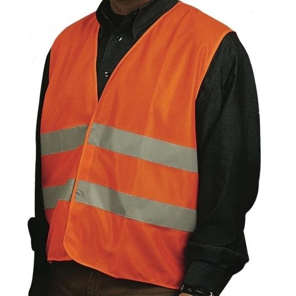 Vesta reflectorizanta Mannesmann M01550, portocalie casaidea.ro