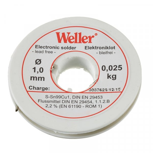 Sarma de lipit EL 99 1-25 Weller WELEL99 1-25, O1 mm, 25 gr WELLER