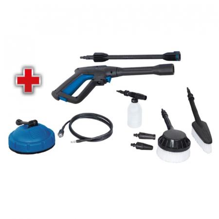 Aparat de spalat cu presiune + 9 accesorii HCE1600 Scheppach SCH5907713903, 1600 W, 135 bari [1]