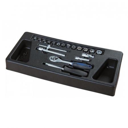 Carucior portabil cu scule TW1000 Scheppach SCH5909304900, 7 sertare, 263 piese7