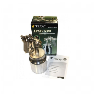 Pistol de vopsit cu aer comprimat Troy T18671, 1000 ml, Ø1.5 mm [1]
