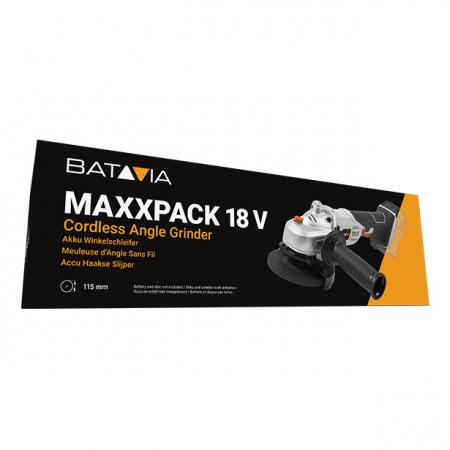 Polizor unghiular fara acumulator 18 V Li-Ion Maxxpack Collection Batavia BTV7062512, Ø115 mm, 8000 rpm8