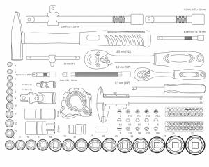Trusa de scule Mannesmann M29077, 159 piese [8]