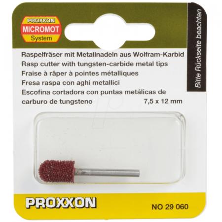 Raspeldin carbura de tungsten de forma cilindrica rotunjitaMicromot Proxxon PRXN29060, 12xØ7.5 mm [0]