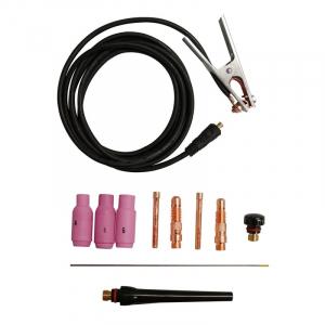 Set accesorii pentru aparat de sudura TIG GIS 200 Guede GUDE41690, 9 piese0