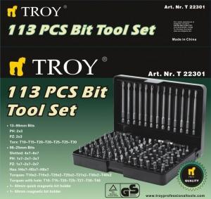 Trusa de biti Troy T22301, 113 bucati [1]