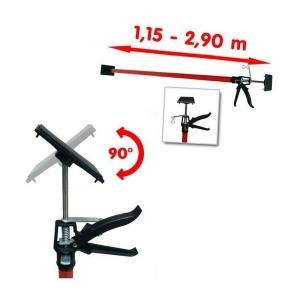 Suport telescopic pentru panouri rigips si lemn Vintec VNTC73583, 115-290 cm1